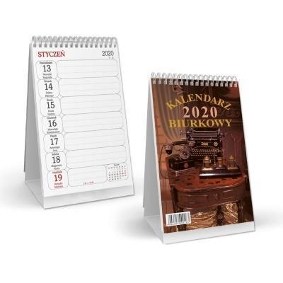 Kalendarz 2020 biurkowy pionowy - spirala SB3