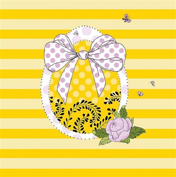 Karnet Swarovski Wielkanoc kokarda