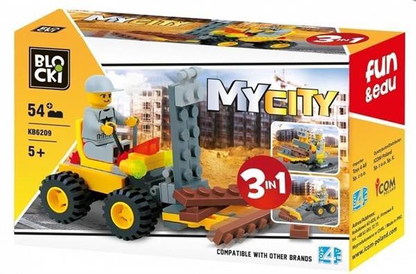 Klocki Blocki MyCity 3w1 54 el
