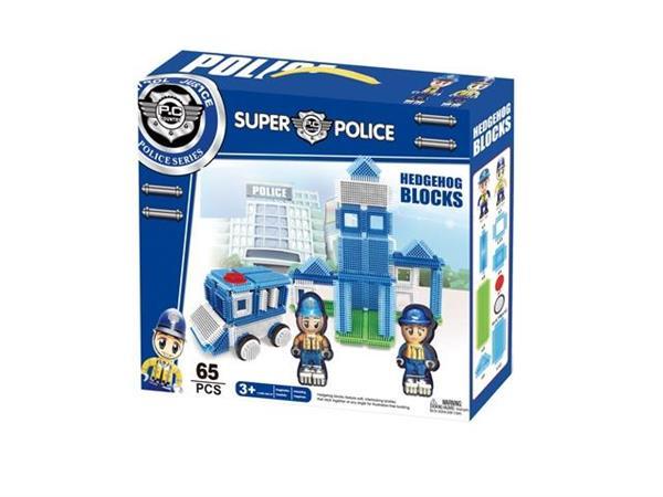 Klocki szczotkowe - policja 65 elementów