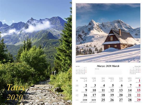 Kalendarz 2020 Tatry 7 planszowy RADWAN
