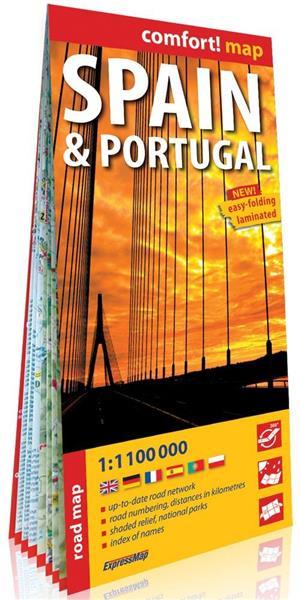 Comfort! map Spain & Portugal mapa samochodowa