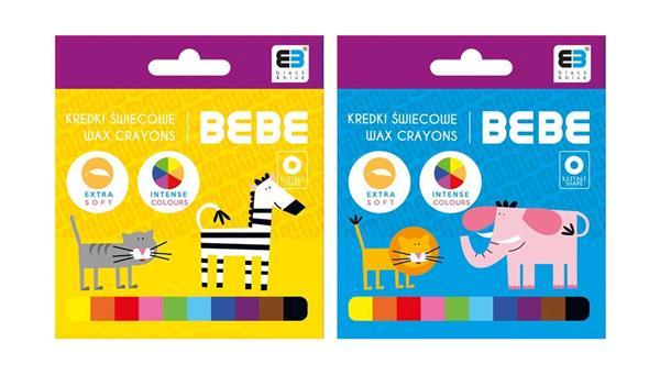 Kredki świecowe 10 kolorów B&B Kids NOSTER