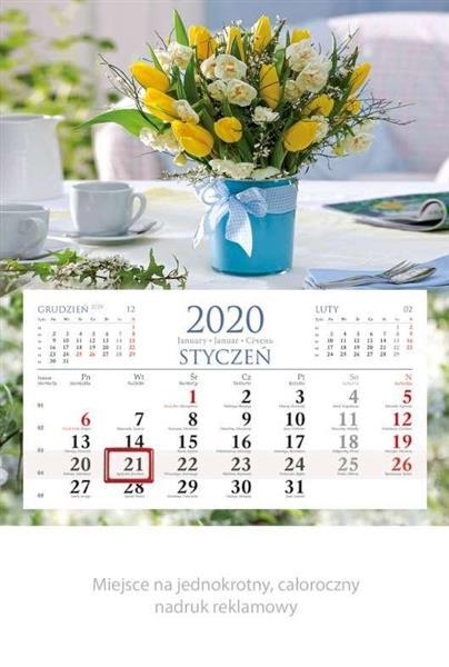 Kalendarz 2020 Jednodzielny Wiązanka KM04