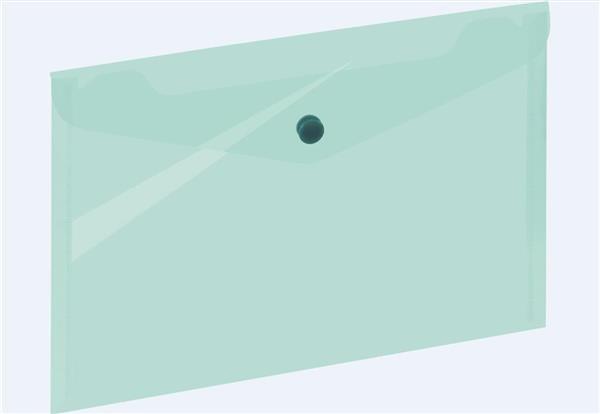 Koperta A5 na zatrzask zielona GRAND
