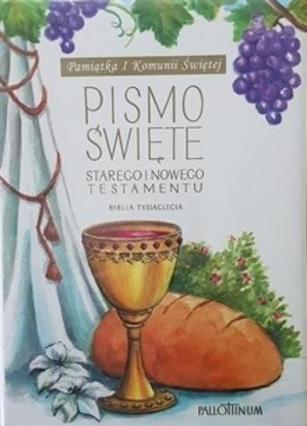 Biblia Tysiąclecia mała TW (komunia, winogrono)-325624