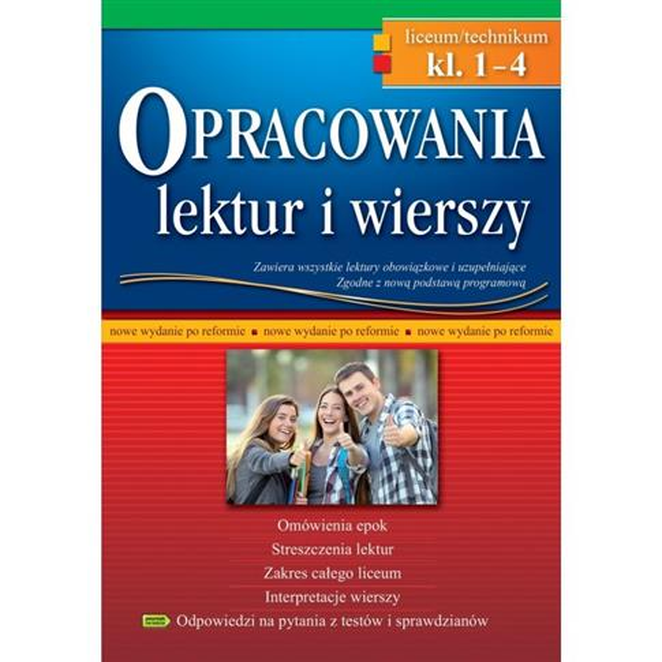 OPRACOWANIA LEKTUR I WIERSZY - LICEUM/TECHNIKUM