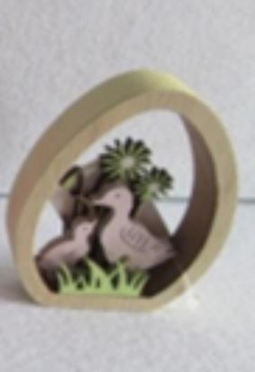 Dekoracja Wielkoanocna wycinane jajko - Kaczka