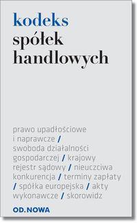 KODEKS SPÓŁEK HANDLOWYCH FOLIA 01.2016 outlet