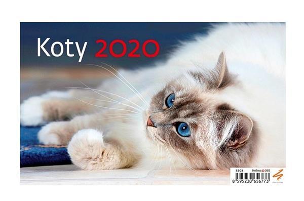 Kalendarz 2020 Biurkowy Koty NARCISSUS