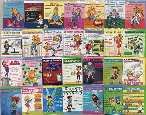 Karnet Comic B6 + koperta Mix wzorów