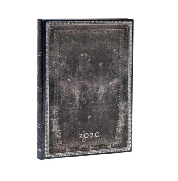 Kalendarz książkowy midi 2020 12M hor. Steel