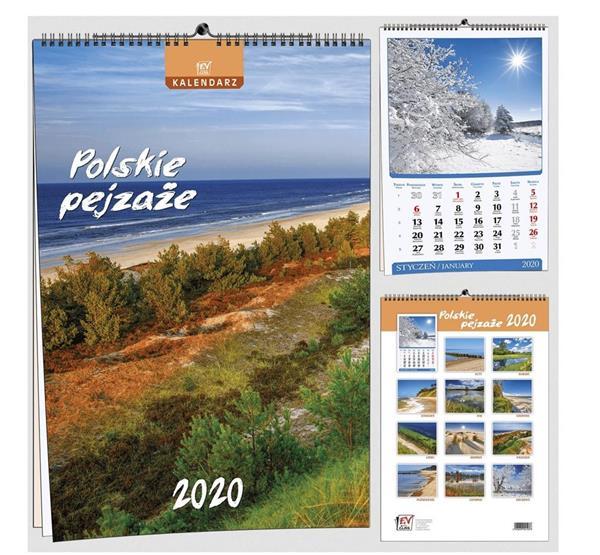 Kalendarz 2020 13 Plansz B3 - Pl pejzaże EV-CORP