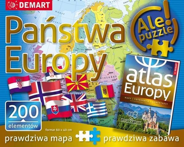 Puzzle: Państwa Europy + atlas