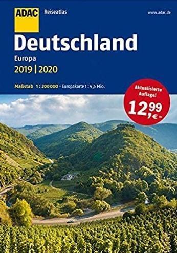ReiseAtlas ADAC. Deutschland, Europa 2019/2020