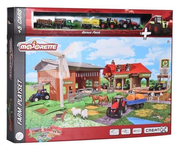 Majorette Duża farma + 5 pojazdów