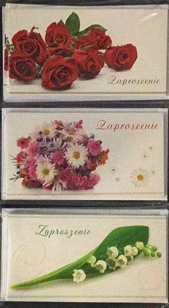 Zaproszenia Flowers (opakowanie 10 sztuk) Mix