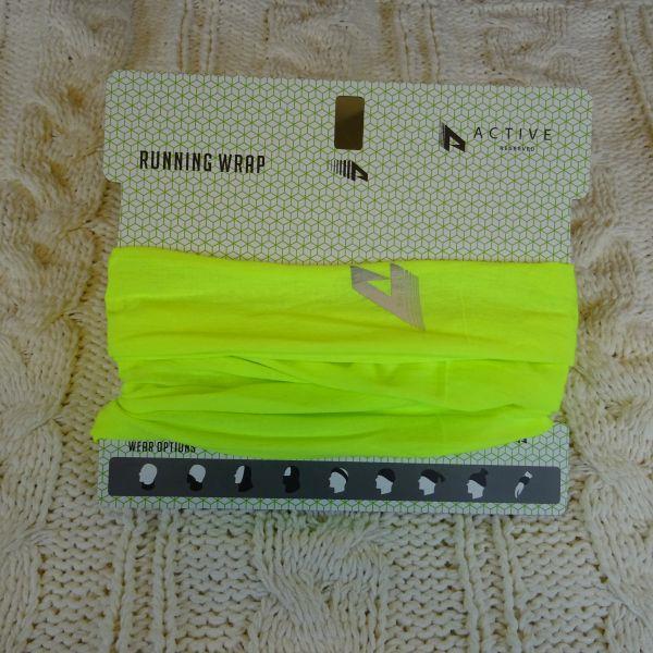Szalik męski sportowy RESERVED. Neonowy, żółto-zie