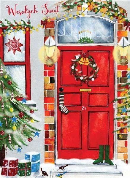 Karnet B6 Boże Narodzenie - Drzwi