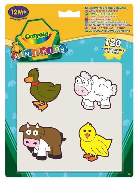 Mini Kids - Naklejki Jumbo Zwierzęta 120 szt.