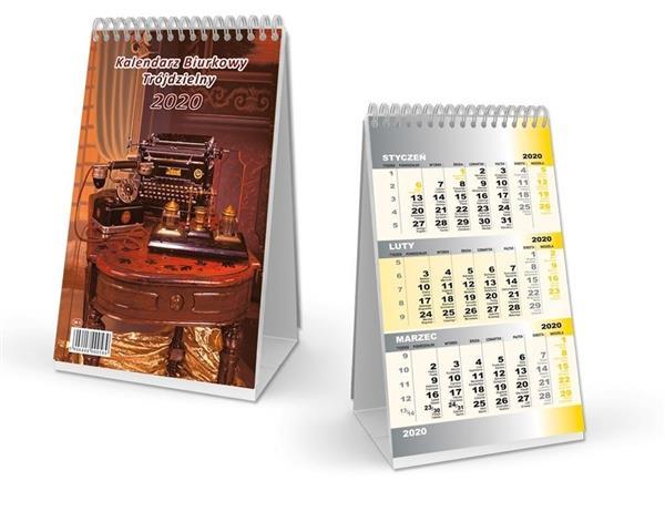 Kalendarz 2020 Biurkowy trójdzielny SB11