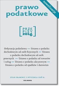 PRAWO PODATKOWE 01.2016 outlet