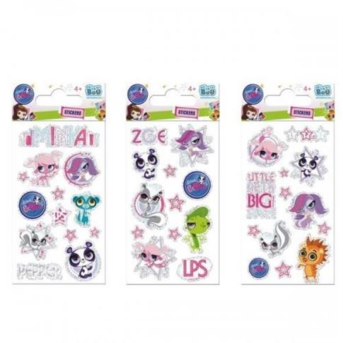Naklejki Sticker BOO brokat Littlest Pet Shop