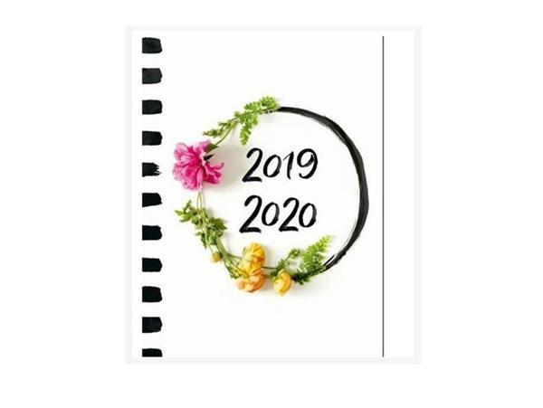 Kalendarz tygodniowy B6 2019-2020 Kwiaty ALBI
