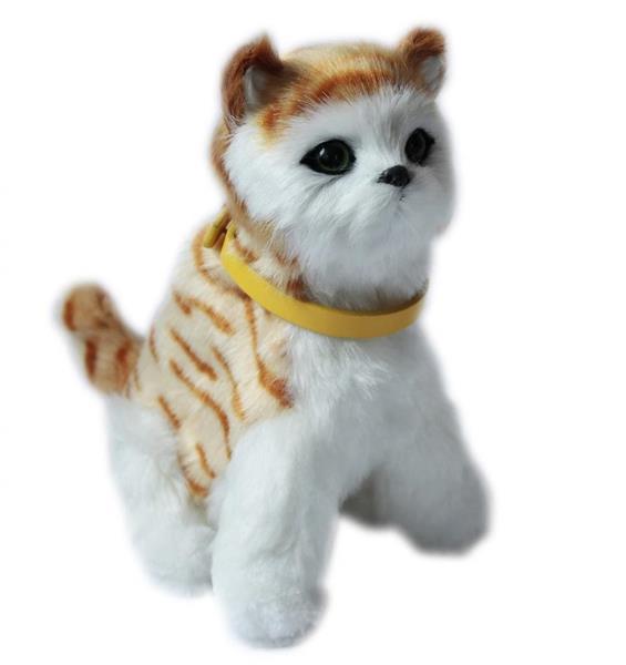Interaktywny kotek - jasno brązowy pręgowany