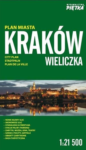 Kraków,Wieliczka 1:21 500 plan miasta PIĘTKA