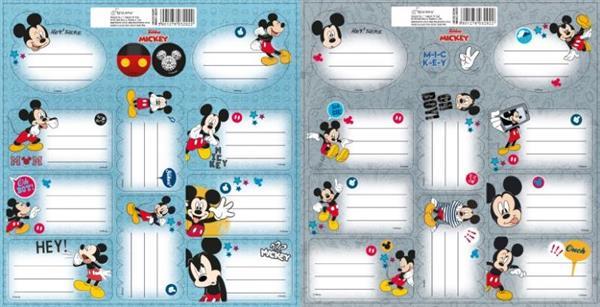 Naklejki na zeszyty Mickey Mouse