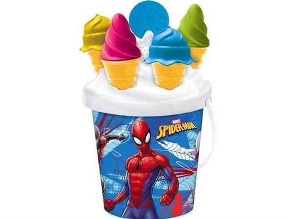 Wiaderko z foremkami Spiderman 17 cm