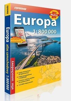 Atlas samochodowy 1:800 000 Europa 2019/2020