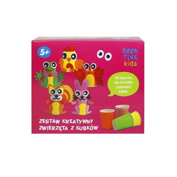 Zestaw kreatywny Zwierzęta z kubków CREATIVE KIDS