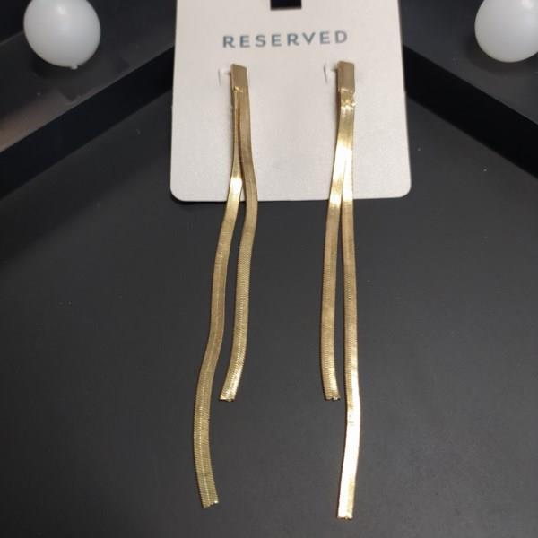 Markowe kolczyki Reserved złote