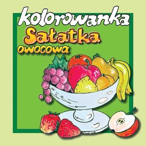 Sałatka owocowa - kolorowanka