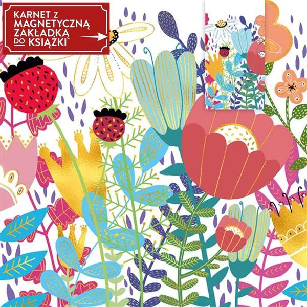 Karnet + zakładka magnetyczna Kwiaty SZ