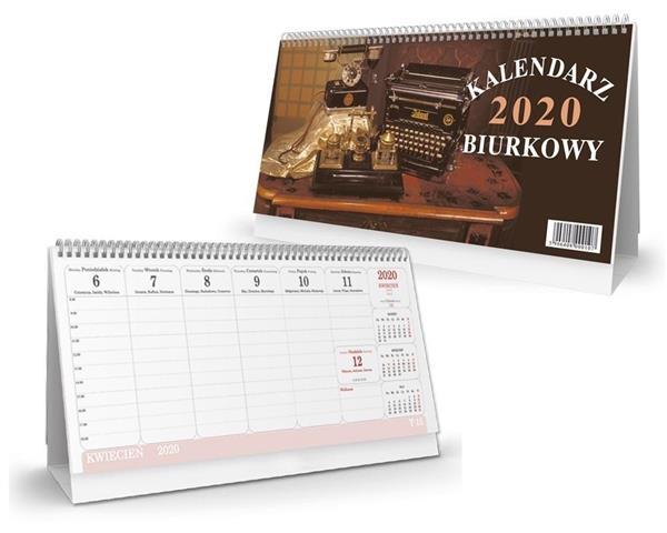 Kalendarz 2020 biurkowy poziomy SB1
