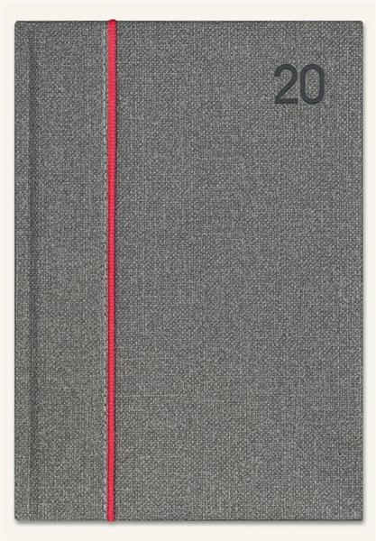 Kalendarz 2020 Ksiażkowy A5 Standard szary melange