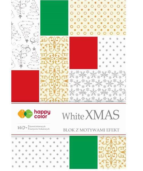 Blok Effect White Christmas 10 arkuszy, 5 wzorów