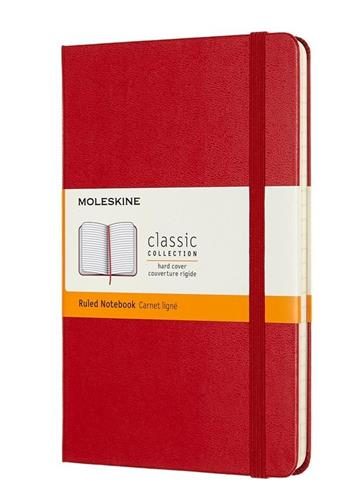 Notes Classic 11,5x18 tw. linie scarlet red
