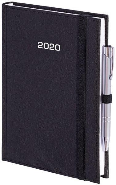 Kalendarz 2020 A4 Tygod. Cross z gumką Czarny