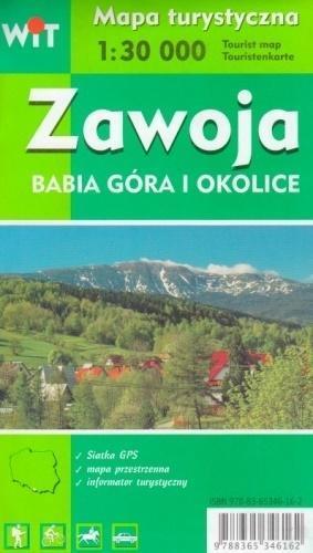 Mapa turystyczna -Zawoja, Babia Góra i okolice WIT