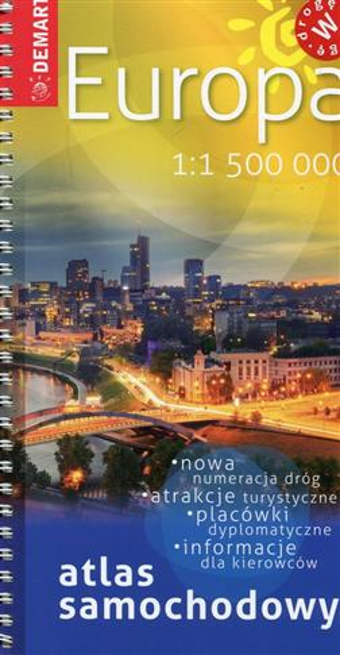 Europa. Atlas samochodowy, 1:1 500 000