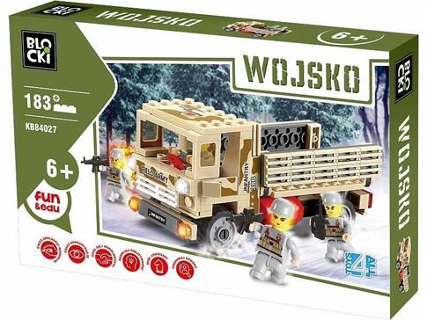 Klocki Blocki Wojsko Ciężarówka Transporter
