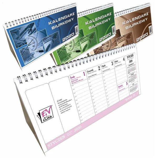 Kalendarz biurkowy 2020 poziomy duży EV-CORP