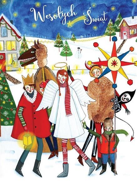 Karnet B6 Boże Narodzenie - Kolędnicy
