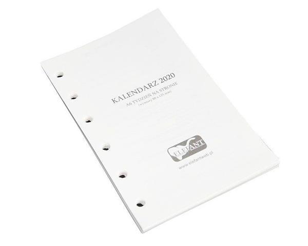 Wkład kalendarzowy A6 2020 tygod. ELEFANT