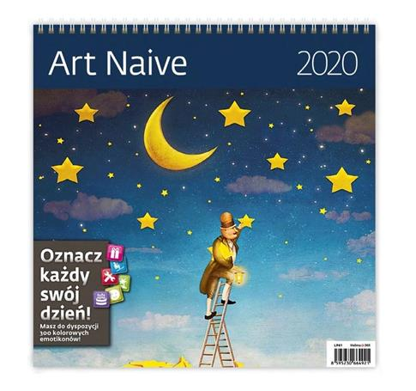 Kalendarz 2020 Art naive 30x30cm NARCISSUS