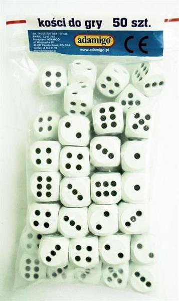 Kości do gry (kpl 50 sztuk)